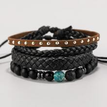 2pcs Men Braided Bracelet