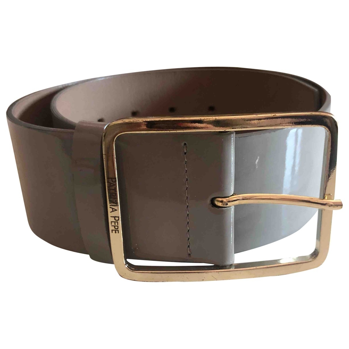 Patrizia Pepe \N Grey Patent leather belt for Women S International