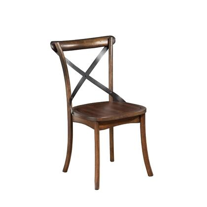 BM172025 Metal Accented Side Chairs In Rubberwood Set Of 2