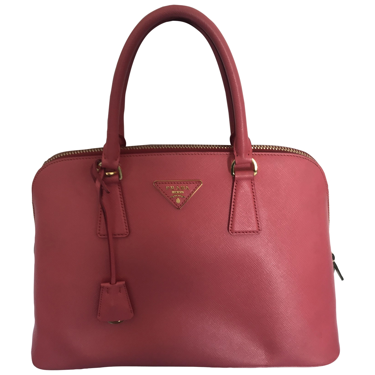 Prada saffiano  Handtasche in  Rosa Leder