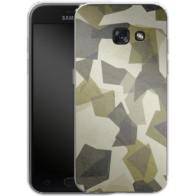 Samsung Galaxy A3 (2017) Silikon Handyhuelle - Geometric Camo Green von caseable Designs