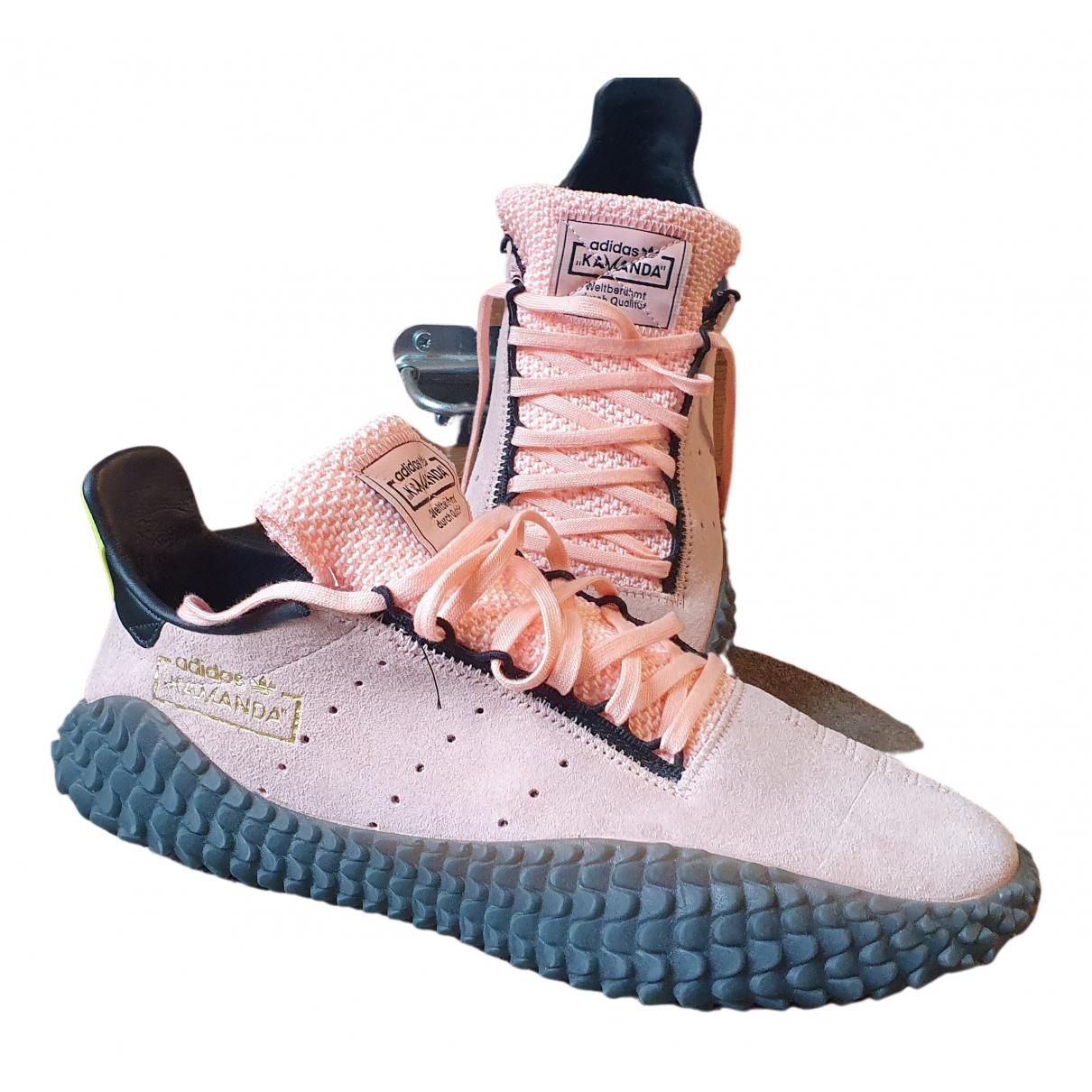 Adidas - Baskets SST pour homme en cuir - rose