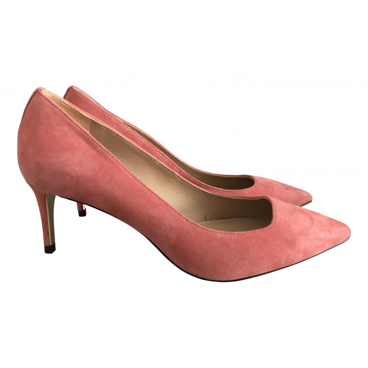 Massimo Dutti - Escarpins   pour femme en suede - rose