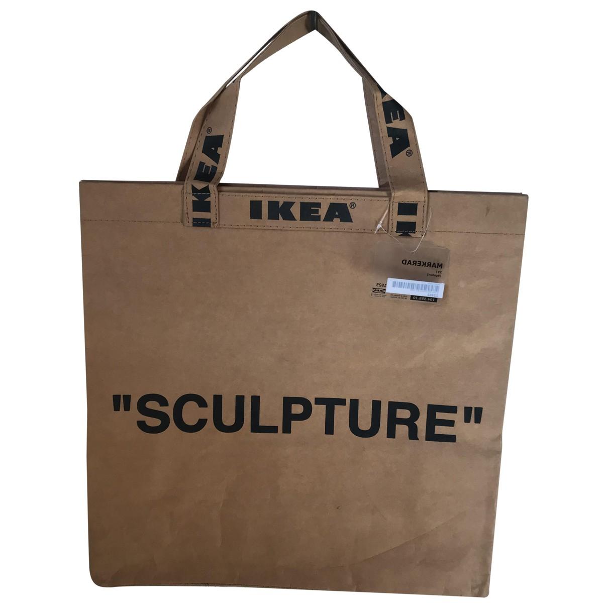 Virgil Abloh X Ikea \N Handtasche in  Kamel Leinen