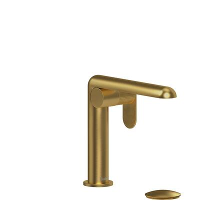 Ciclo CIS01LNBG-10 Single Hole Lavatory Faucet with Lined Textured Handle 1.0 GPM  in Brushed
