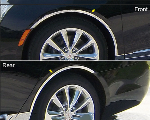 Quality Automotive Accessories 4-Piece Stainless Steel Wheel Well Fender Trim Kit Cadillac XTS 2014