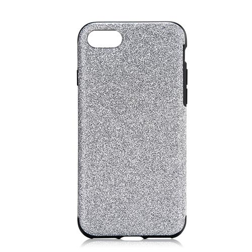 Phone Case Glitter Series Silicone Protective Soft Case Back Cover For iPhone 7 - Silver