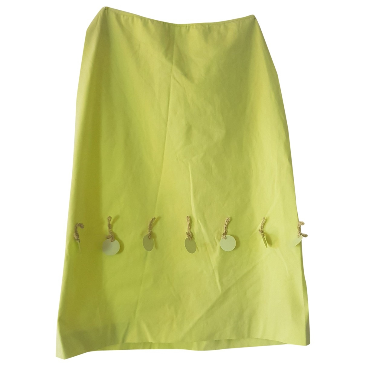 Non Signé / Unsigned \N Green Cotton skirt for Women 40 FR