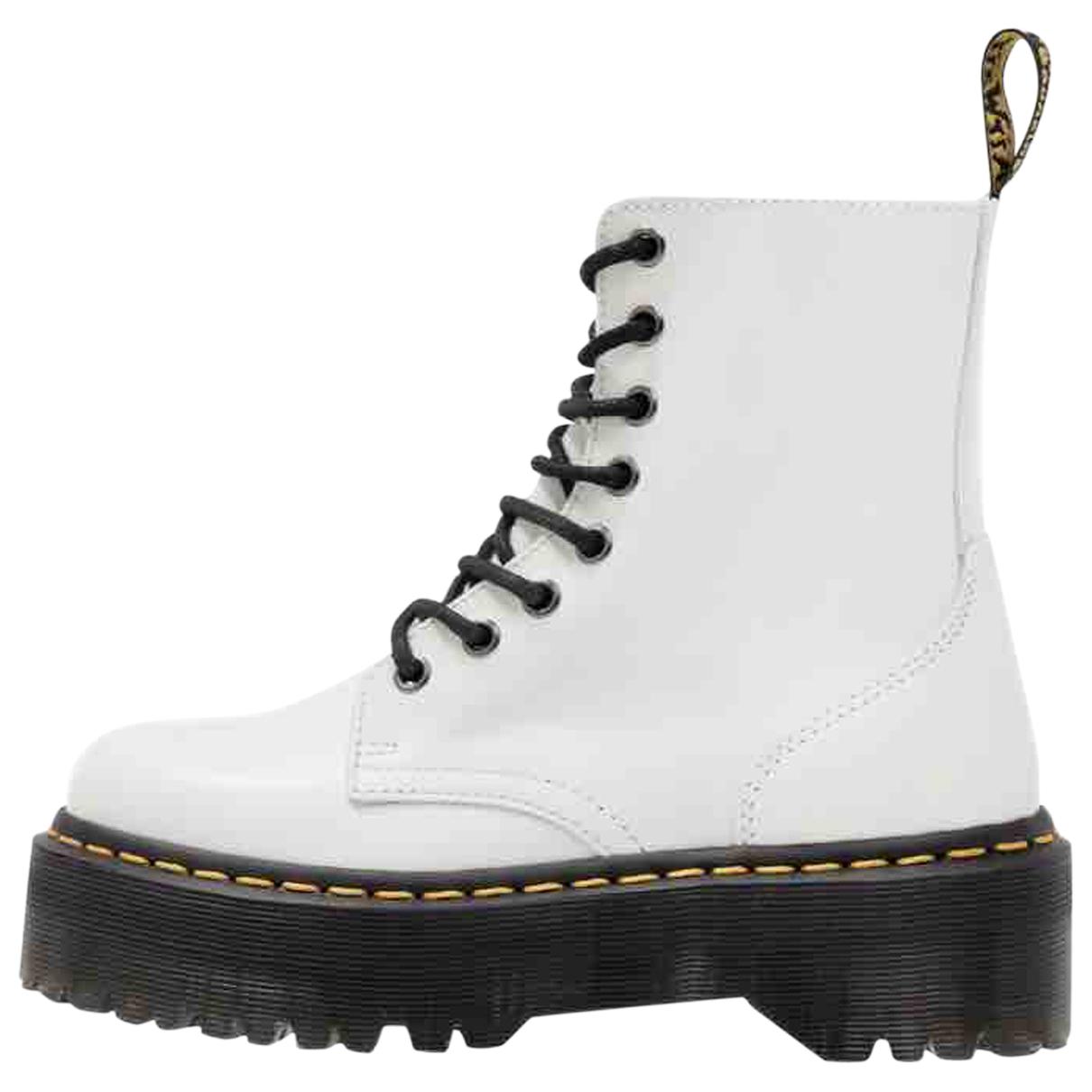 Dr. Martens - Boots Jadon pour femme en cuir - blanc