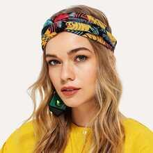Jungle Print Twist Headband