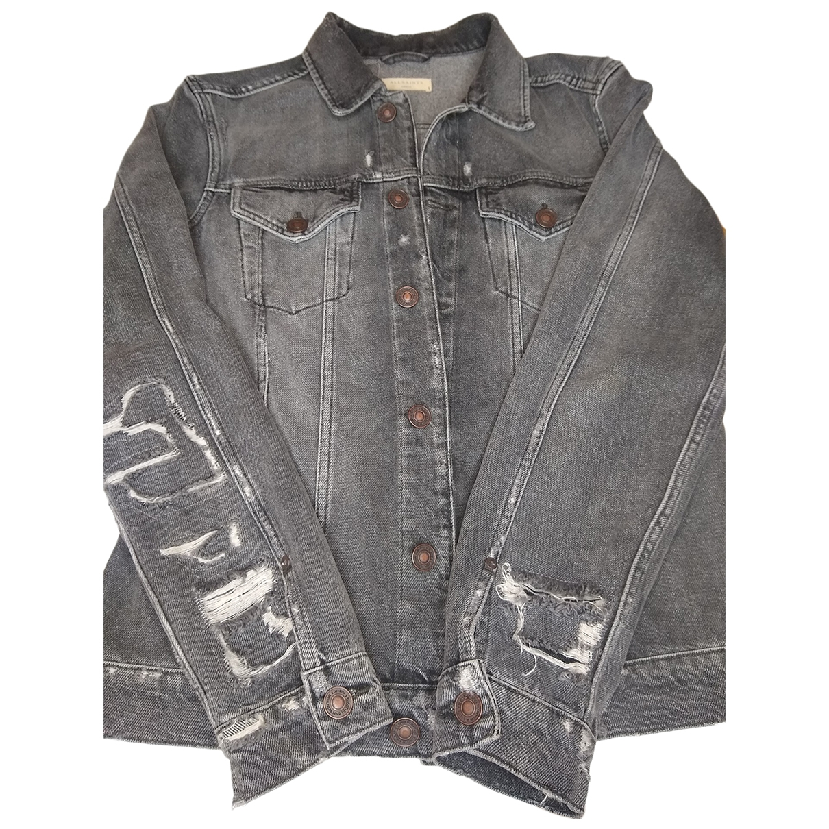 All Saints \N Jacke in  Grau Denim - Jeans