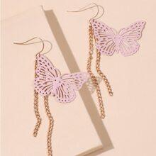 Butterfly Tassel Drop Earrings