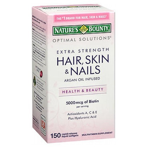 Nature's Bounty Hair Skin and Nails Coated Caplets 24 X 150 Softgels by Nature's Bounty