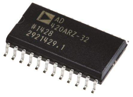 Analog Devices AD420ARZ-32, Serial DAC, 400sps, 24-Pin SOIC