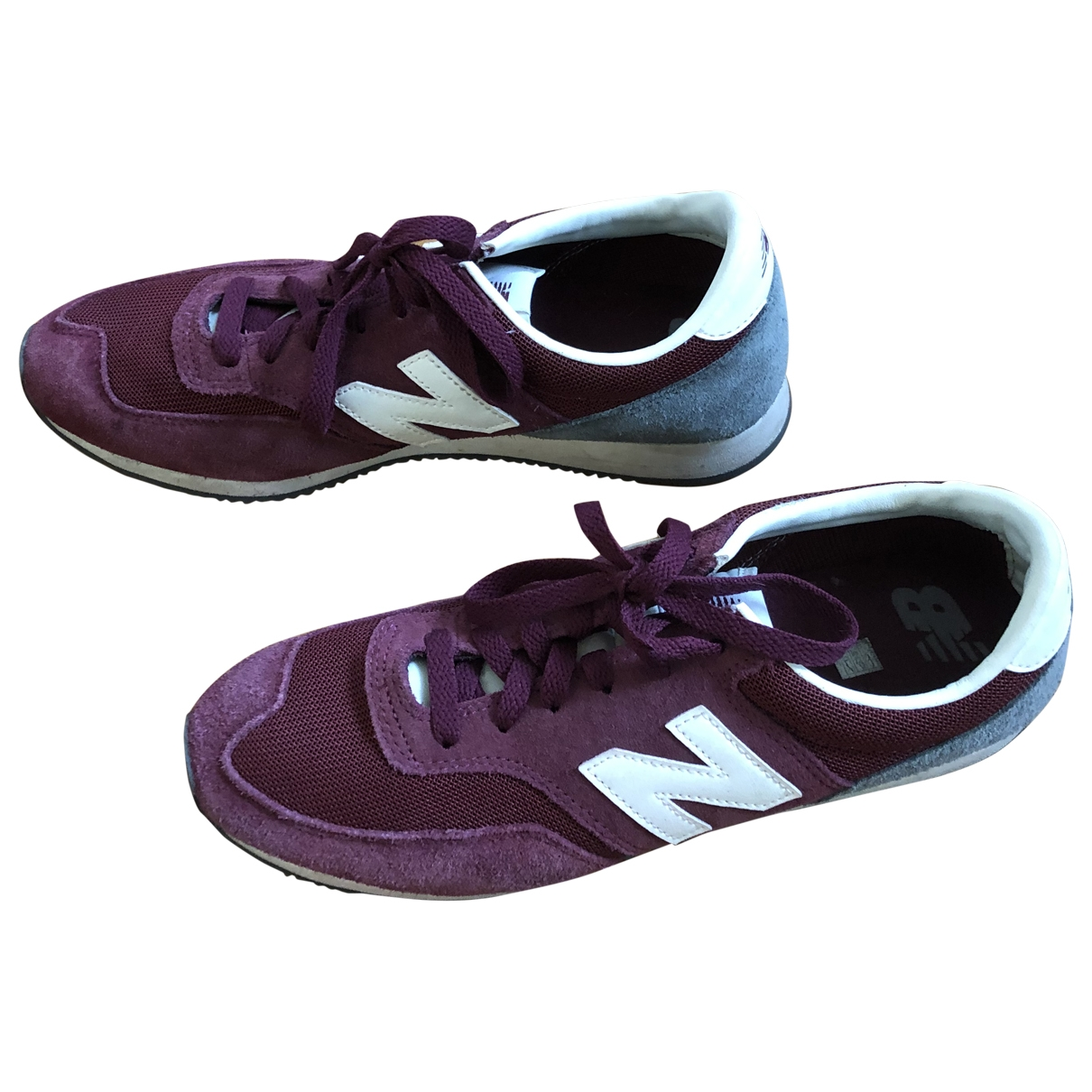 New Balance \N Purple Suede Trainers for Women 42 EU