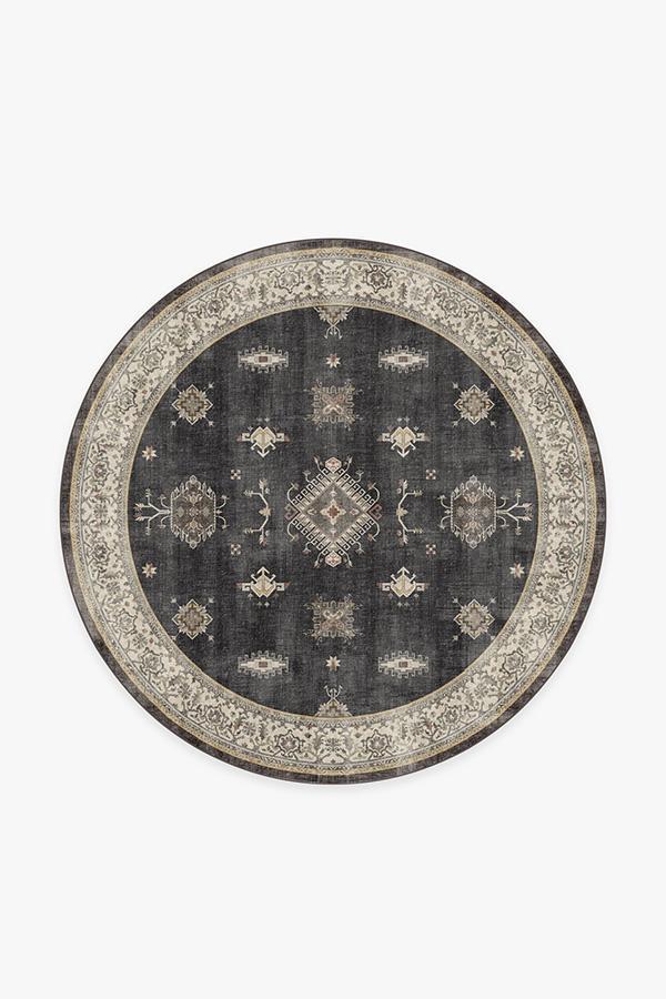 Washable Rug Cover & Pad | Verena Dark Wood Rug | Stain-Resistant | Ruggable | 6' Round