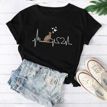 Camisetas de Tallas grandes Animal Casual