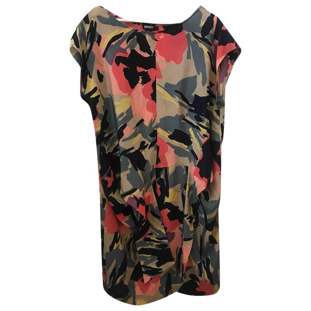 Donna Karan - Robe   pour femme en soie - multicolore