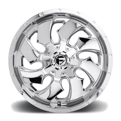 MHT Fuel Offroad Cleaver D573, 20x9 Wheel with 6 on 5.5 and 6 on 135 Bolt Pattern - Chrome - D57320909857