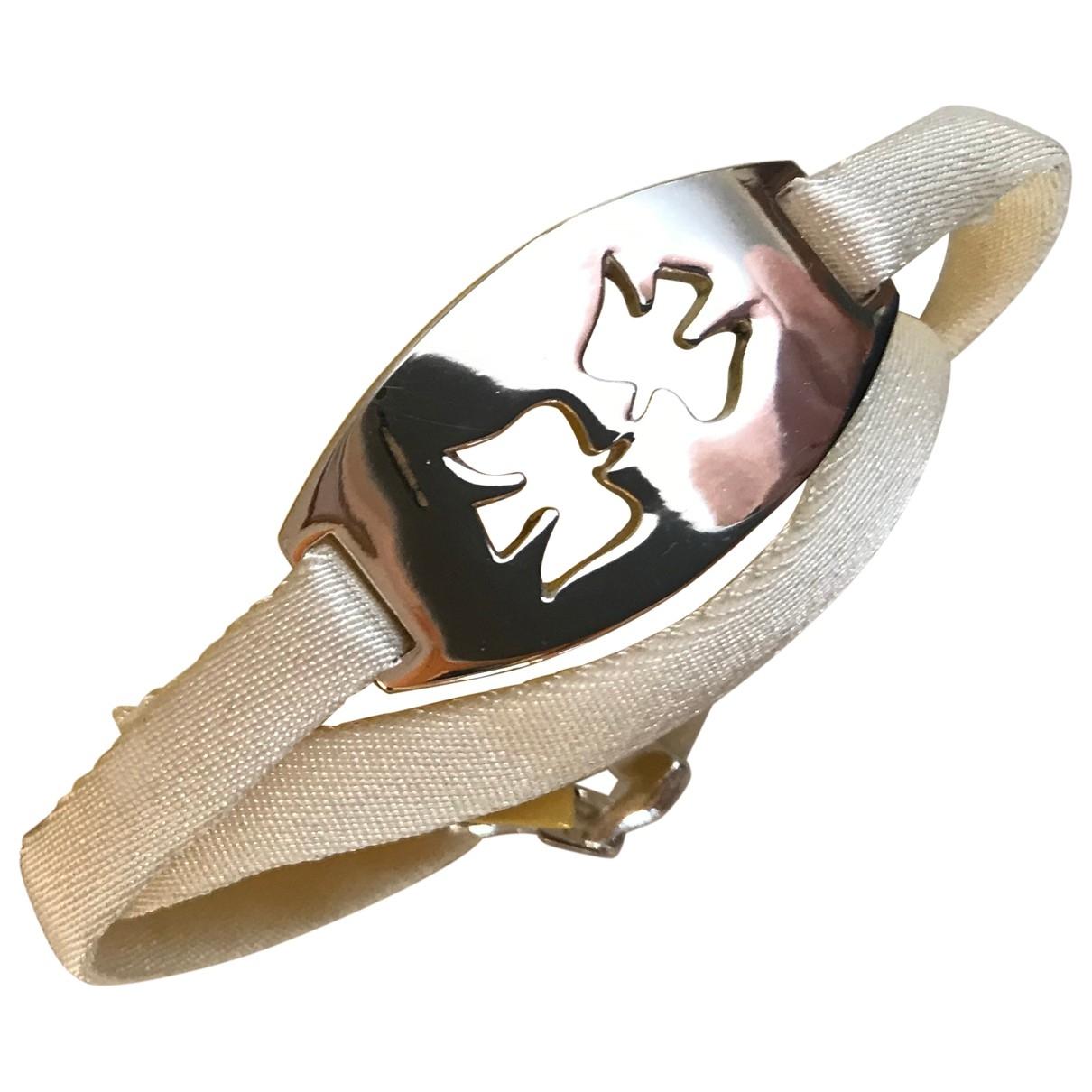Nina Ricci - Bracelet   pour femme en cuir - argente