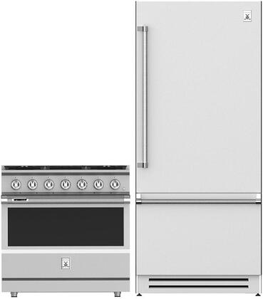 2 Piece Kitchen Appliances Package with KRBR36 36