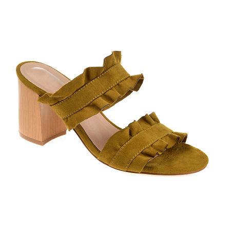 Journee Collection Womens Channing Heeled Sandals, 10 Medium, Green