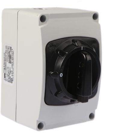 Craig & Derricott 3 Pole Enclosed Non Fused Isolator Switch - 25 A Maximum Current, 11 kW Power Rating