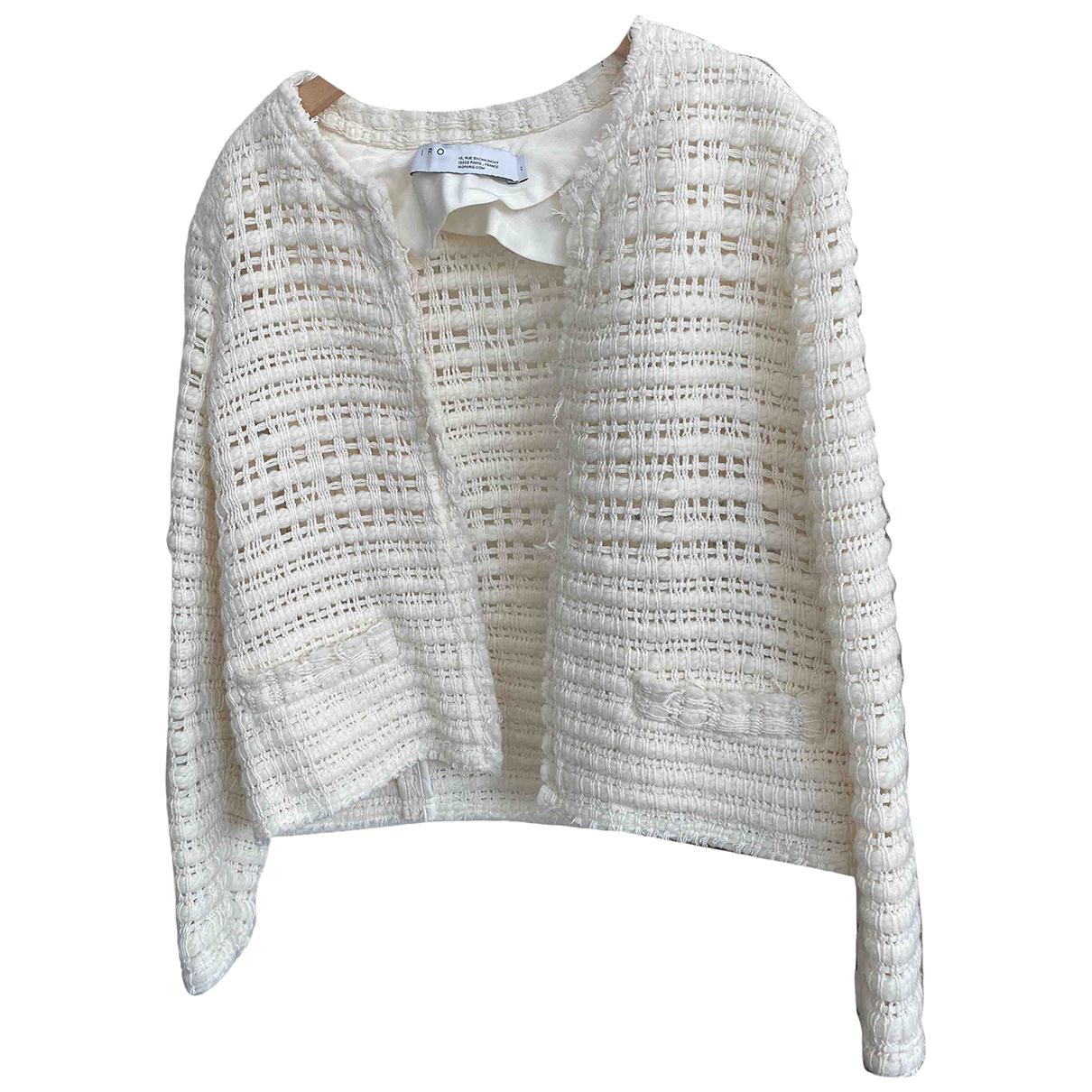 Iro \N White Cotton jacket for Women 42 FR