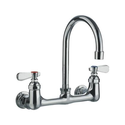 WHFS9814-P5-C Heavy Duty wall mount utility faucet with gooseneck swivel spout and lever