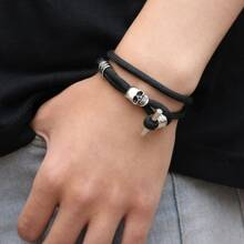 Men Skull Decor Bracelet