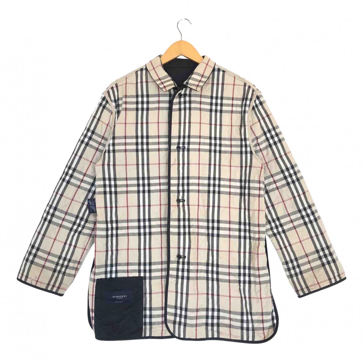 Burberry - Vestes.Blousons   pour homme en coton - noir