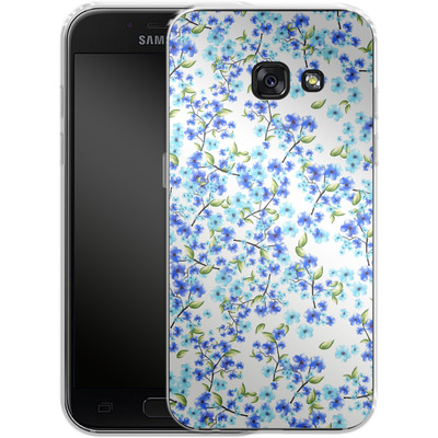 Samsung Galaxy A3 (2017) Silikon Handyhuelle - Blue Blooms von Mukta Lata Barua