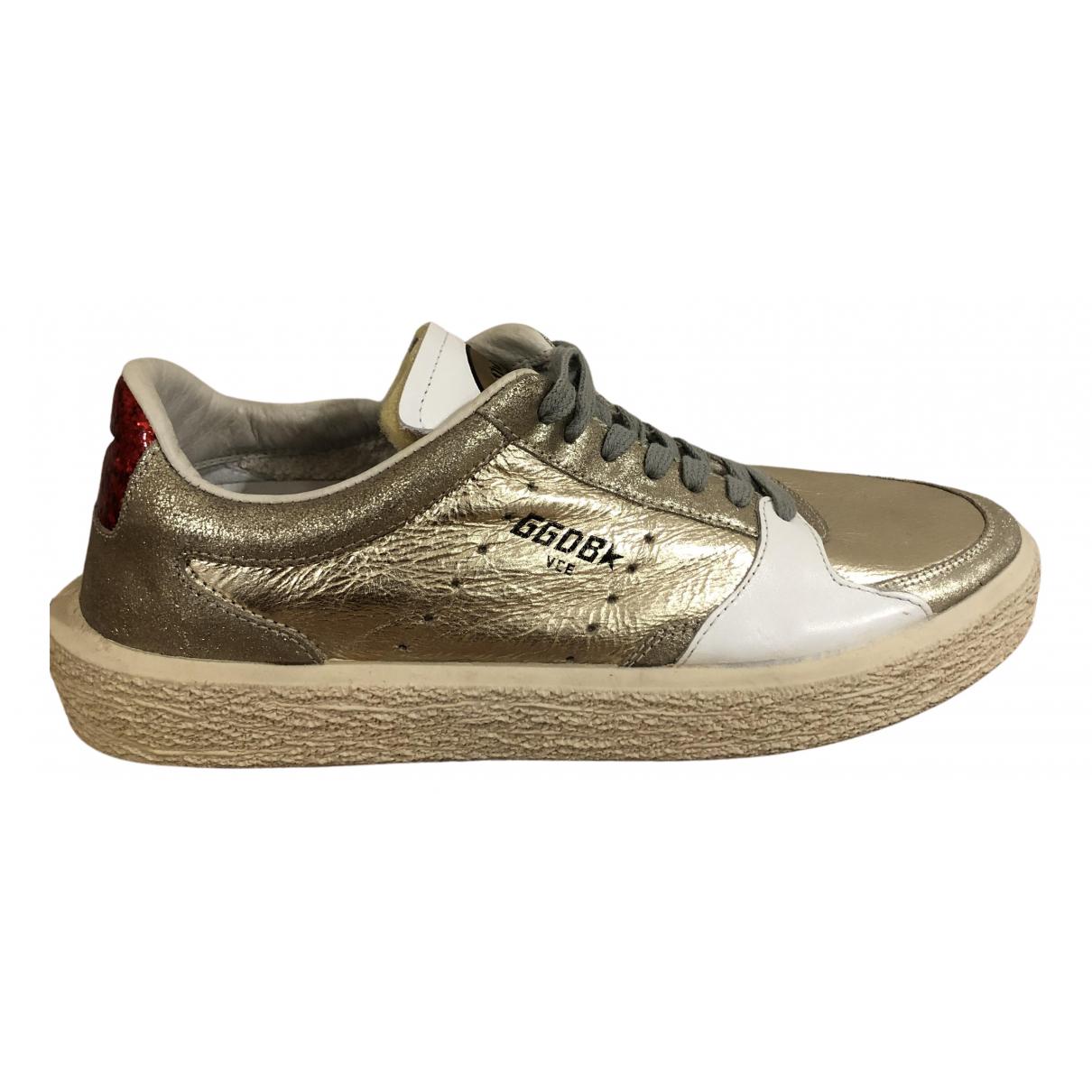 Golden Goose - Baskets Tenthstar pour femme en cuir - metallise