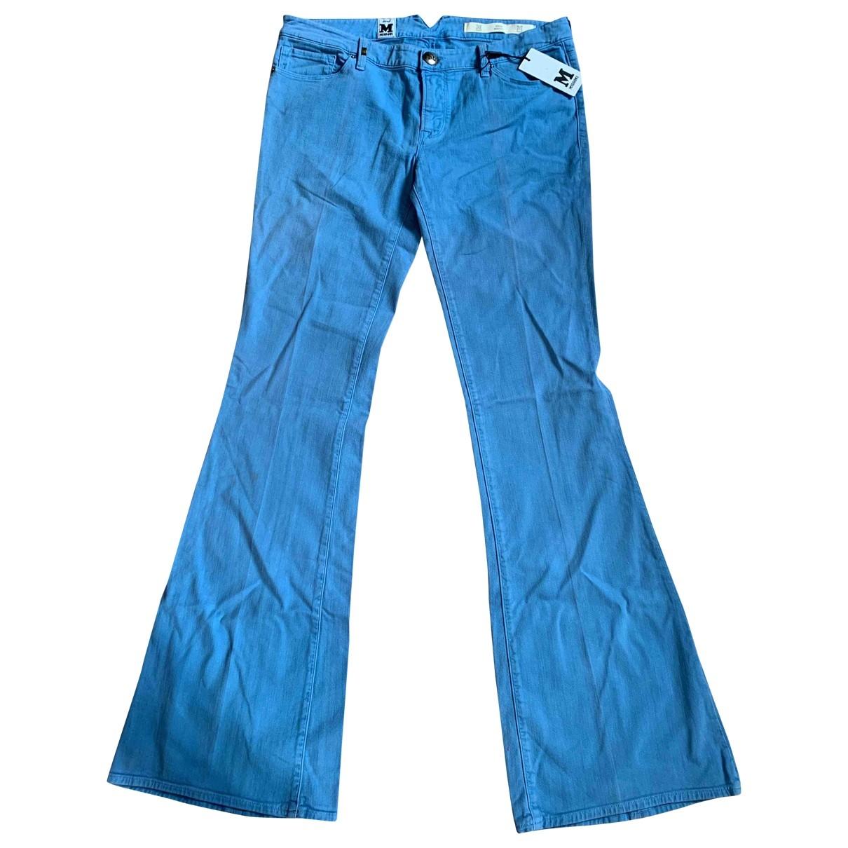 M Missoni \N Blue Cotton - elasthane Jeans for Women 33 US