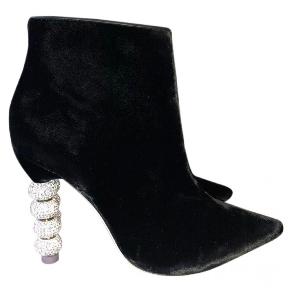Sophia Webster - Boots   pour femme en velours - noir