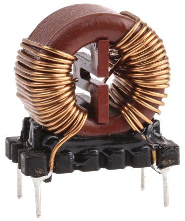 Wurth Elektronik Wurth 5 mH ±30% Leaded Inductor, 6A Idc, 45mΩ Rdc, WE-CMB
