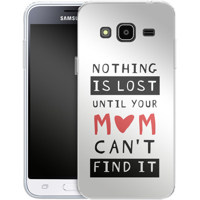 Samsung Galaxy J3 (2016) Silikon Handyhuelle - Nothing is Lost von caseable Designs