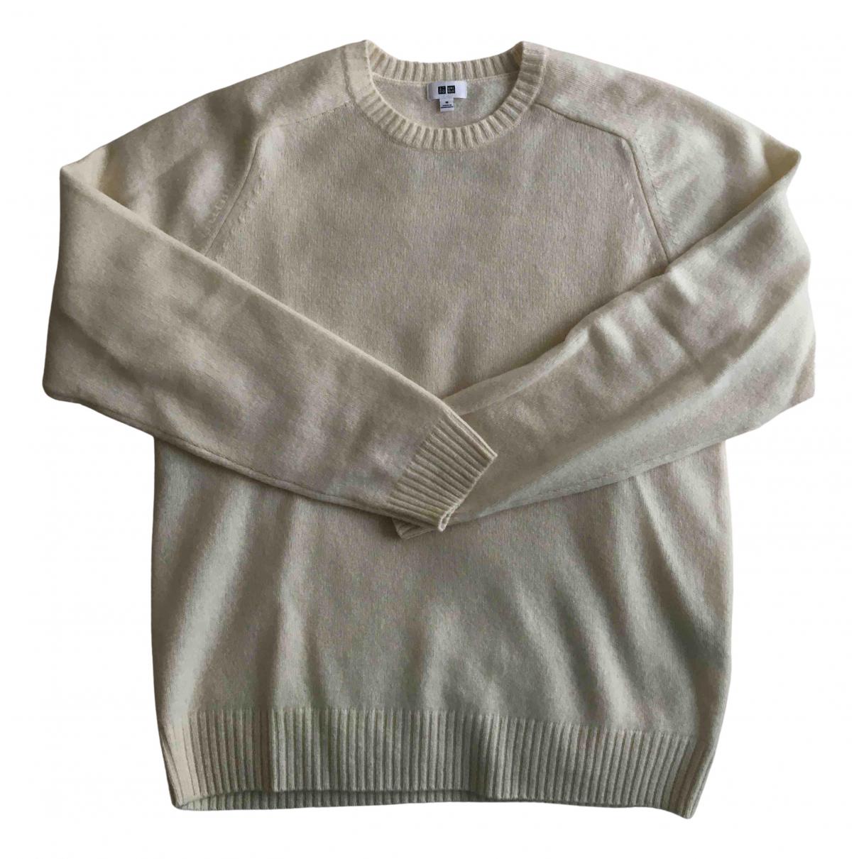 Uniqlo - Pulls.Gilets.Sweats   pour homme en laine - ecru