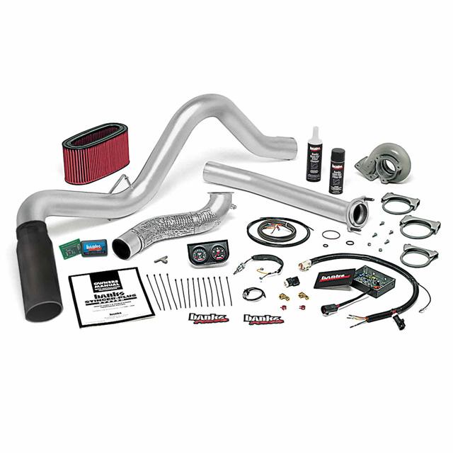 Stinger Plus Bundle Power System W/Single Exit Exhaust Black Tip 94-95.5 Ford 7.3L Automatic Transmission Banks Power 48553-B