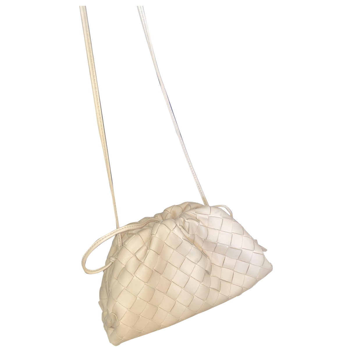 Bottega Veneta Pochette Knot Beige Leather handbag for Women \N