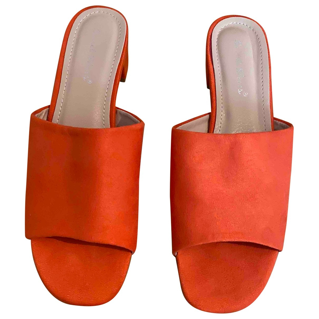 Non Signe / Unsigned \N Sandalen in  Orange Polyester