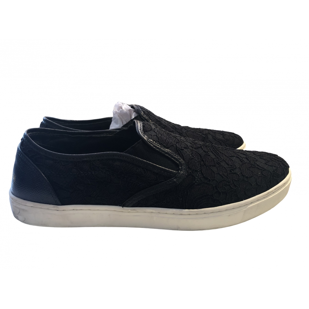Dolce & Gabbana \N Black Cloth Trainers for Women 40 IT