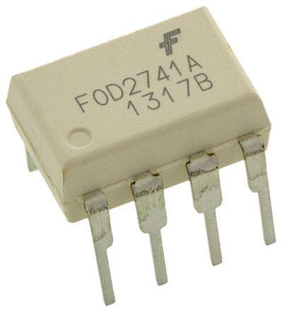 ON Semiconductor , FOD2741ATV DC Input Phototransistor Output Optocoupler, Through Hole, 8-Pin DIP (10)