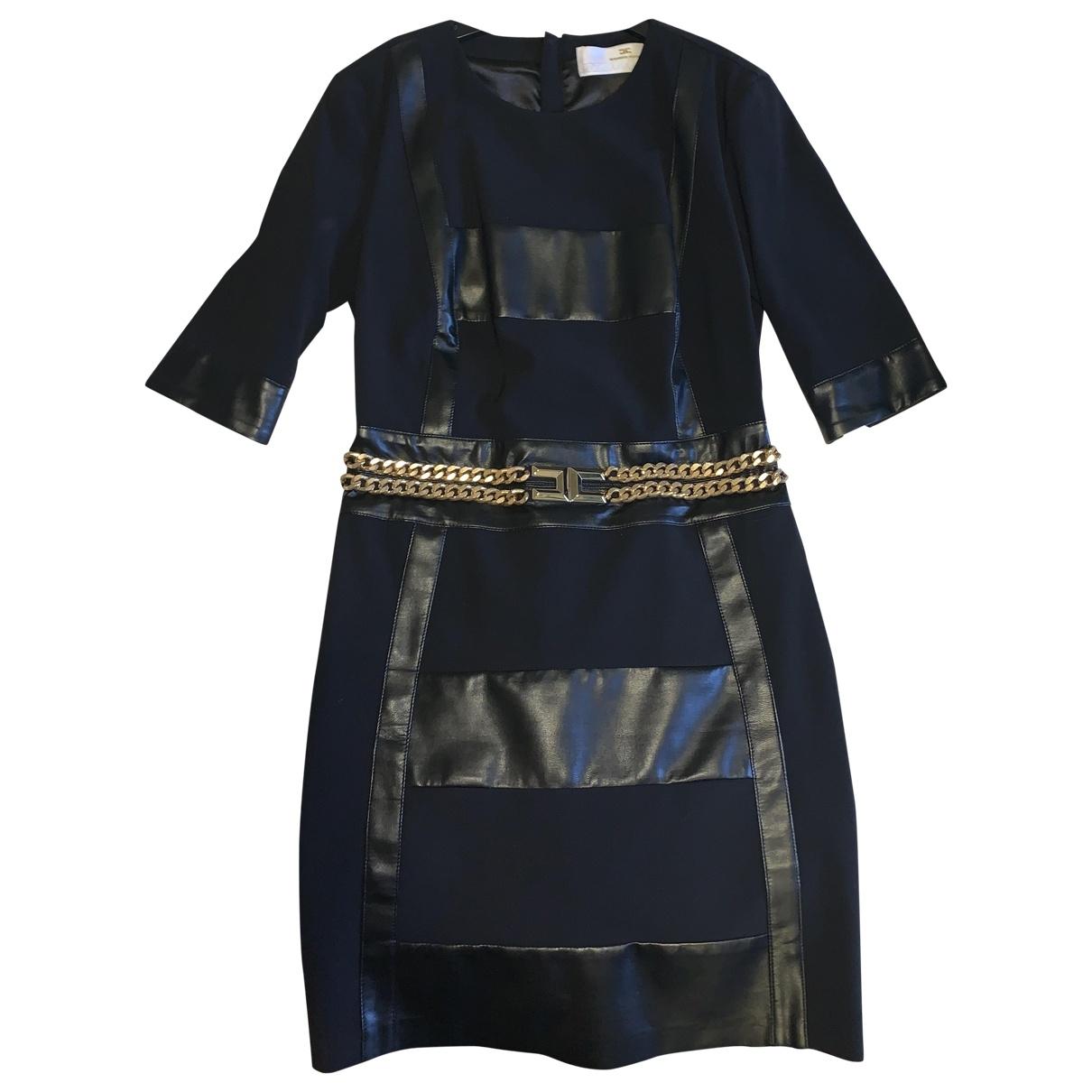Elisabetta Franchi - Robe   pour femme en coton - elasthane - noir
