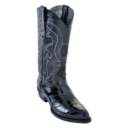 Black Eelskin Western Boot
