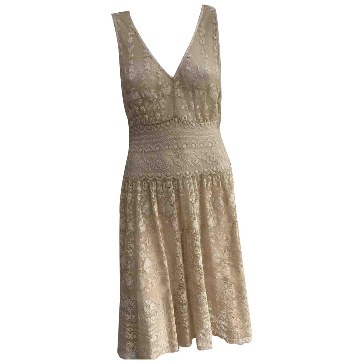 Ralph Lauren - Robe   pour femme en dentelle - beige