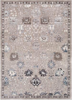 Katmandu KAT-2315 53 x 73 Rectangle Traditional Rug in Charcoal  Light Gray  Denim  Medium Gray