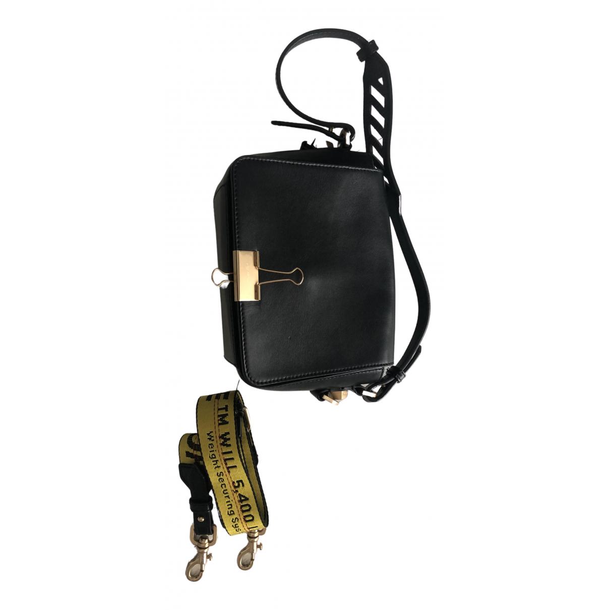 Off-white Binder Handtasche in  Schwarz Leder