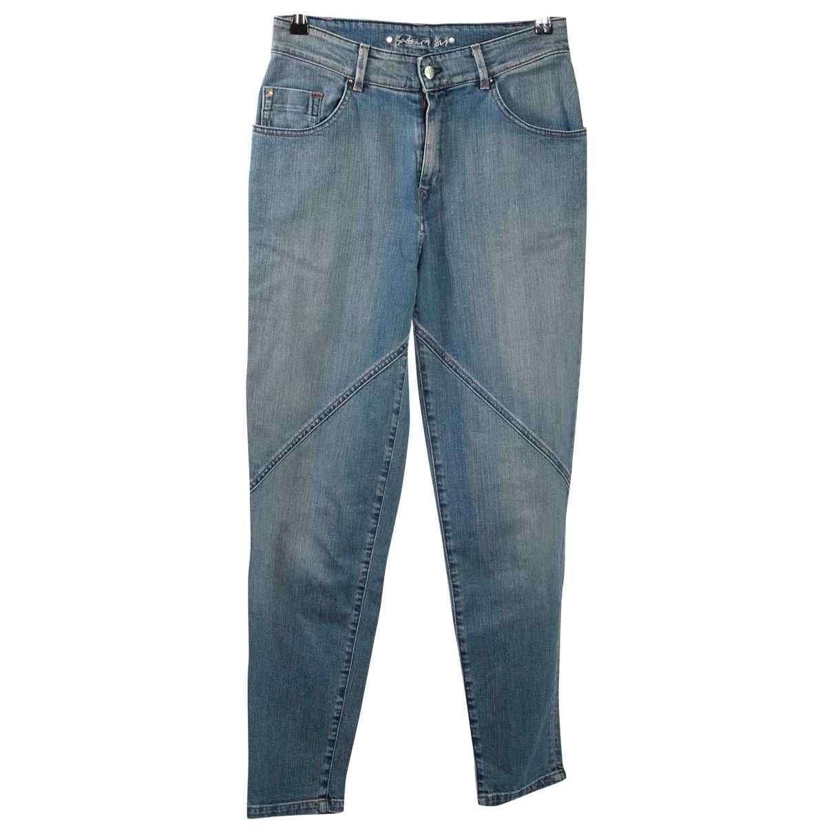 Barbara Bui \N Blue Cotton - elasthane Jeans for Women 26 US