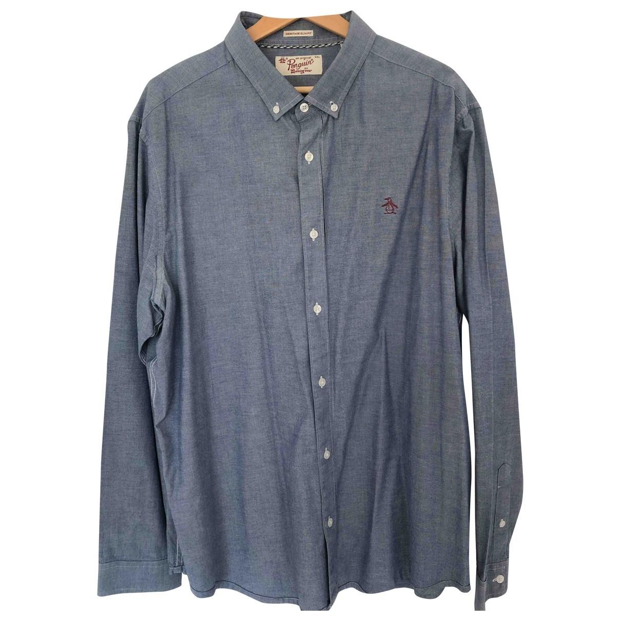 Original Penguin - Chemises   pour homme en coton - bleu